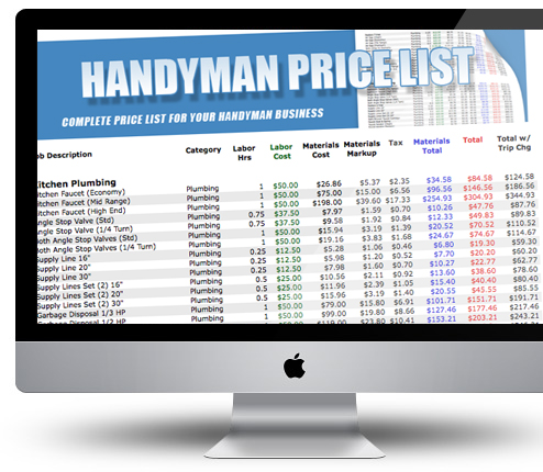 Handyman price list is now available handyman edge for Handyman business plan pdf