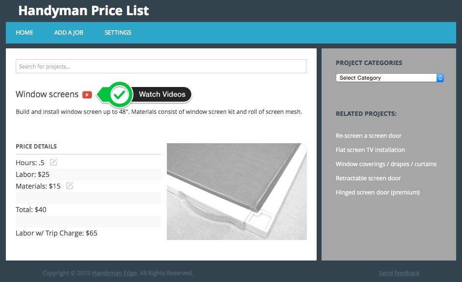 The New Handyman Price List - Handyman Edge