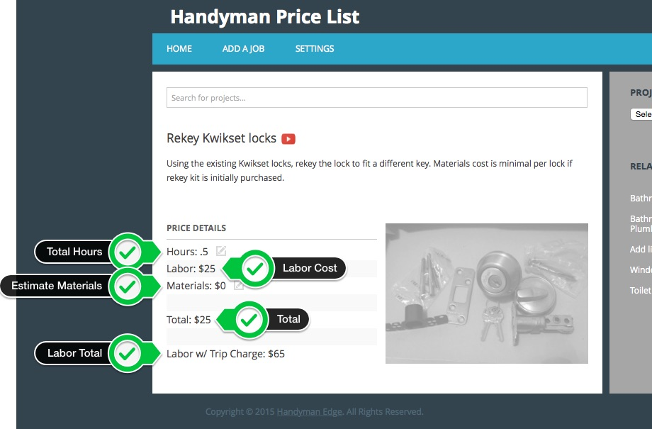 the new handyman price list handyman edge