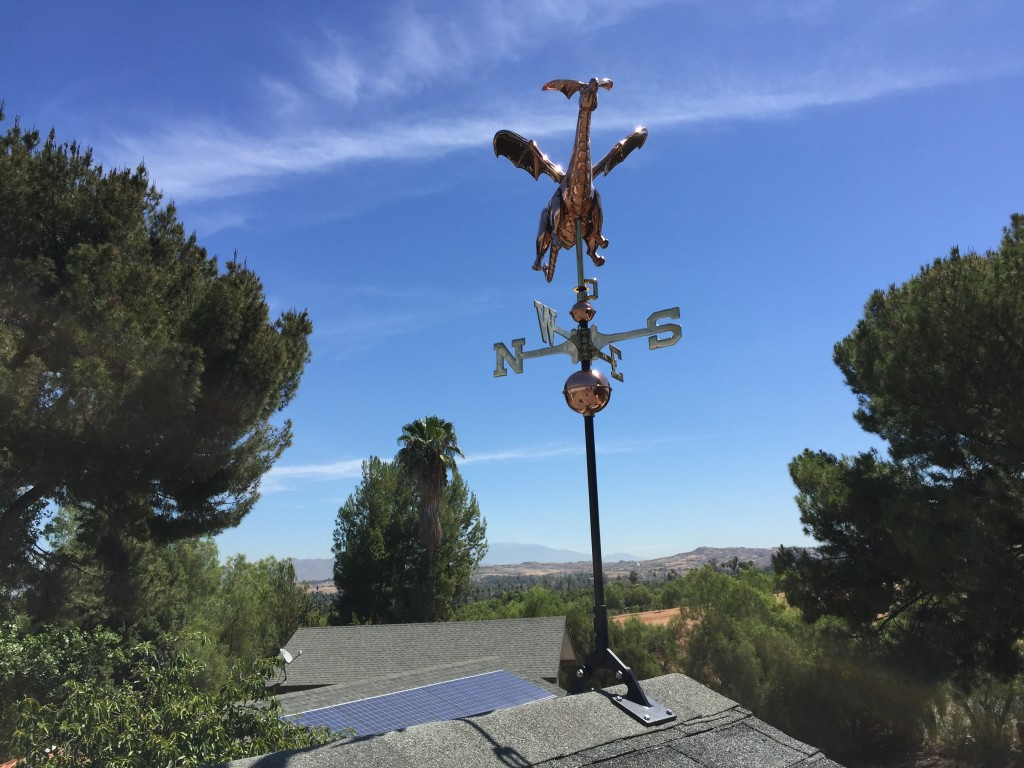 Job Example Installing A Weathervane On A Rooftop